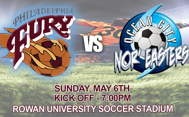 UPDATE: Nor'easters friendly with Philadelphia Fury on Sunday moved to Ocean City